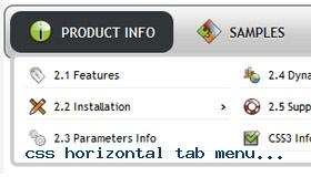 Best css menus fade in effect demo 903 rate it css horizontal tab menu dropdown panel malvernweather Choice Image
