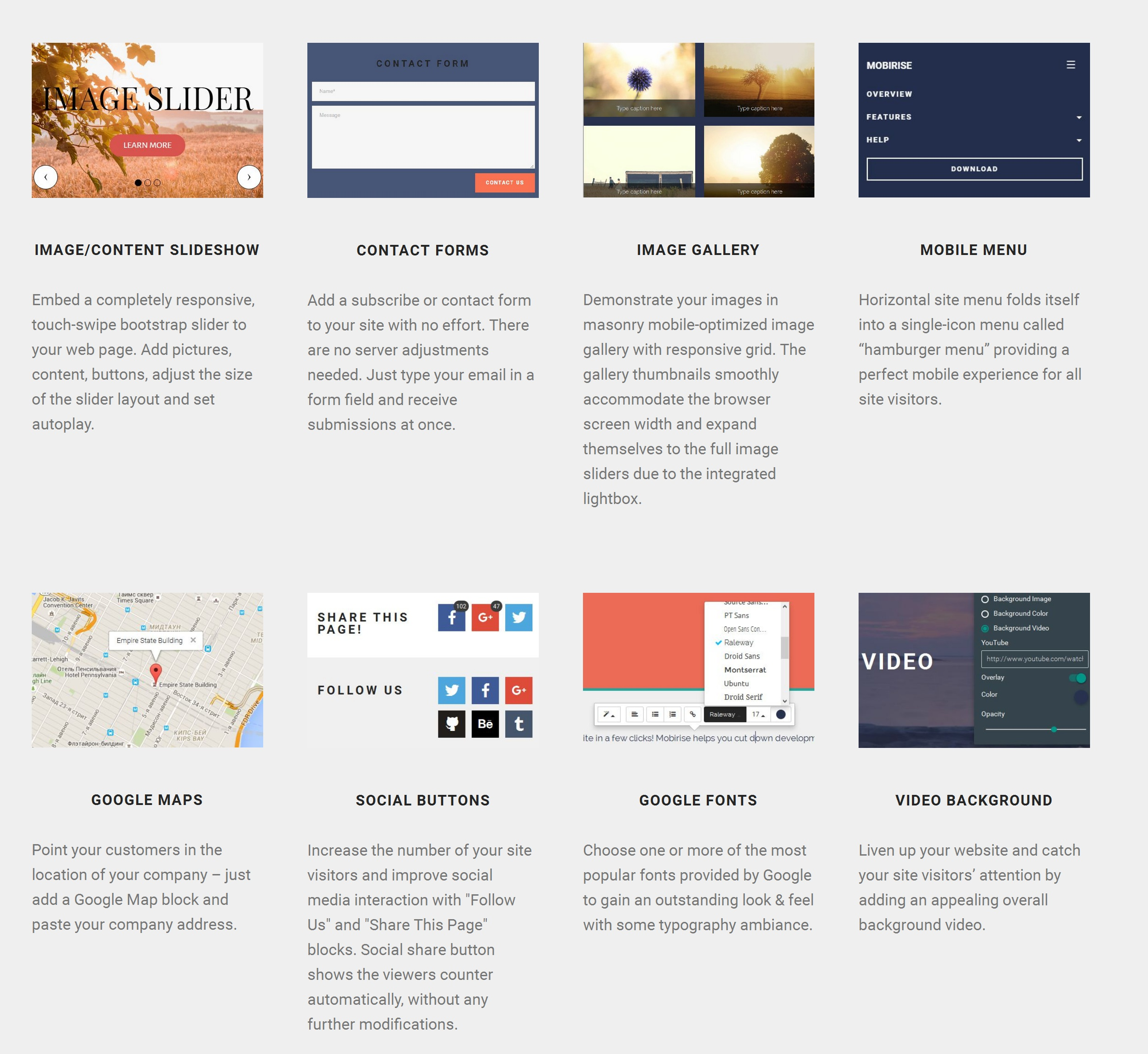 Bootstrap Simple Website Builder