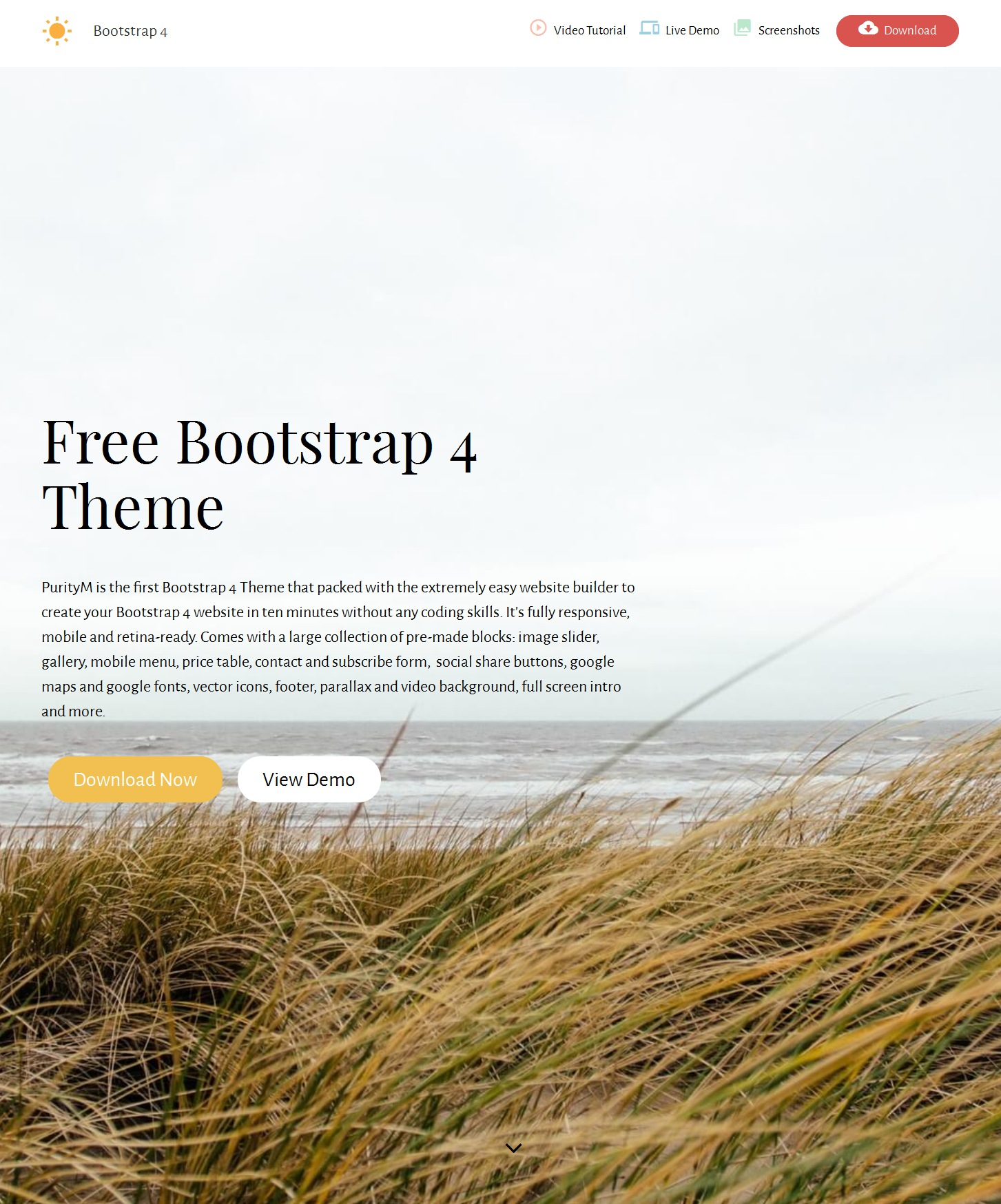 Mobile Bootstrap Real Estate Theme