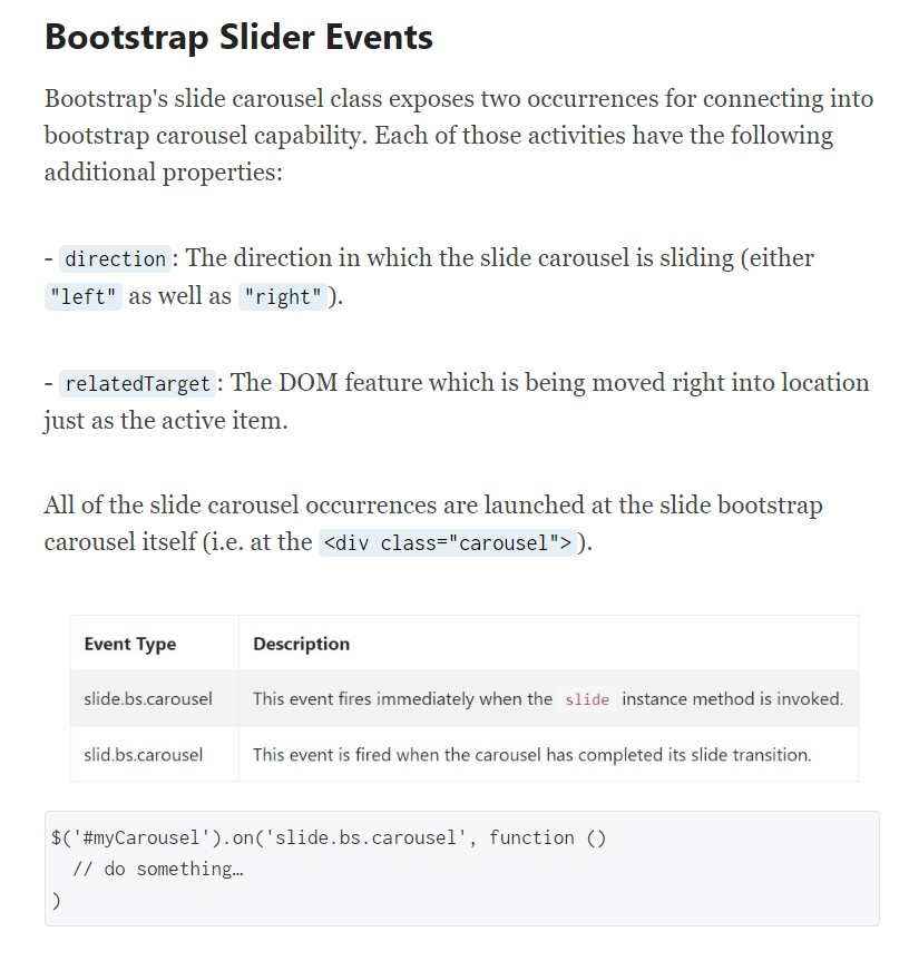 Bootstrap Text Slider