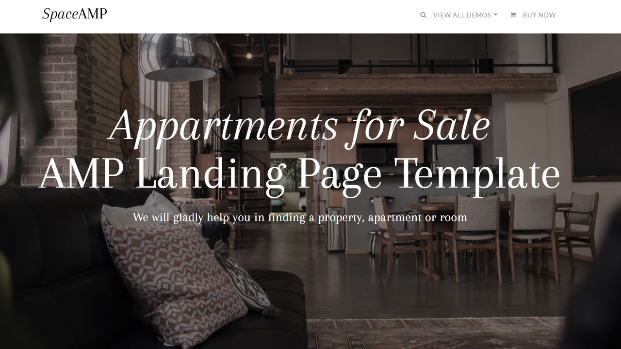AMP Appartments For Sale Page Template