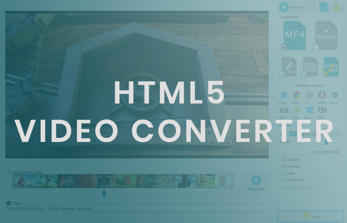 convert video to html5