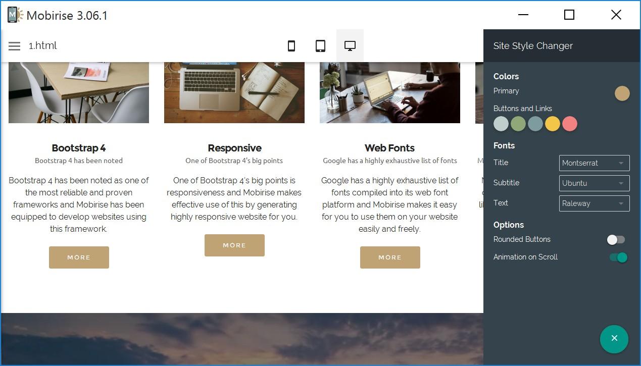 Drag and Drop Responsive Website Maker Software