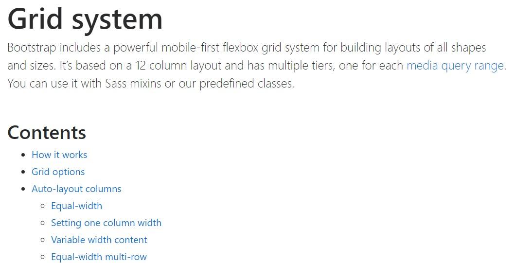 Bootstrap grid  authoritative  information