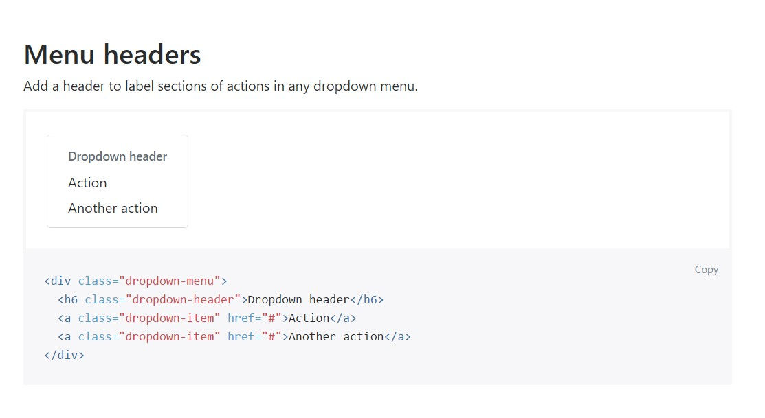 Bootstrap Header:  authoritative  documents