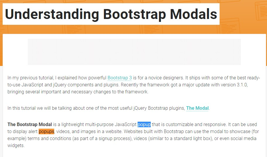 Yet another  beneficial  information  relating to Bootstrap Modal Popup