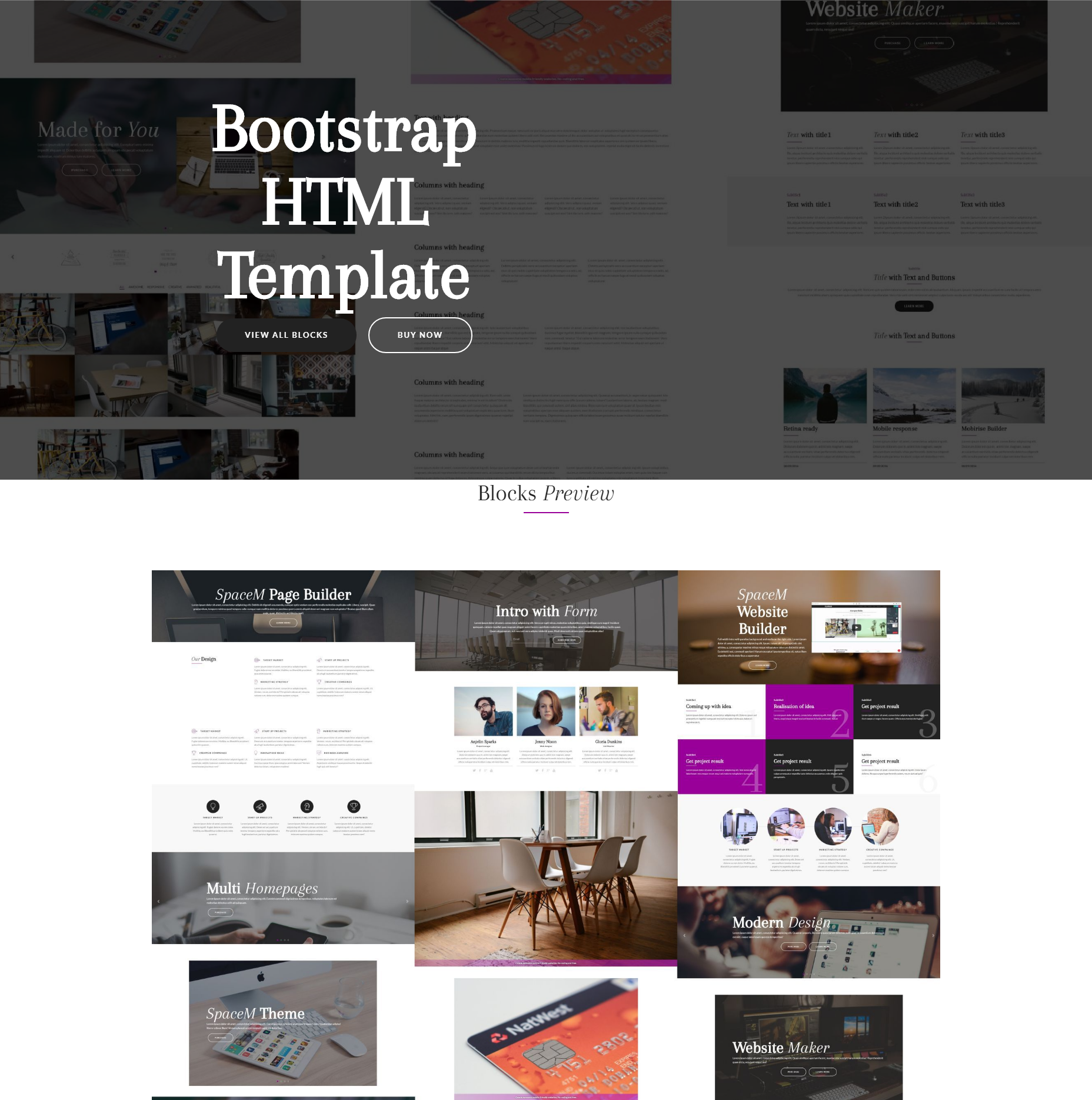 Free Download Bootstrap SpaceM Templates