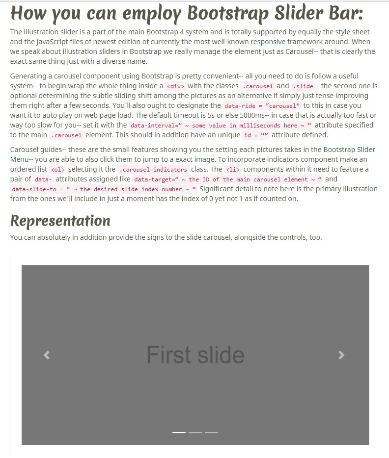 Slider Responsive Bootstrap