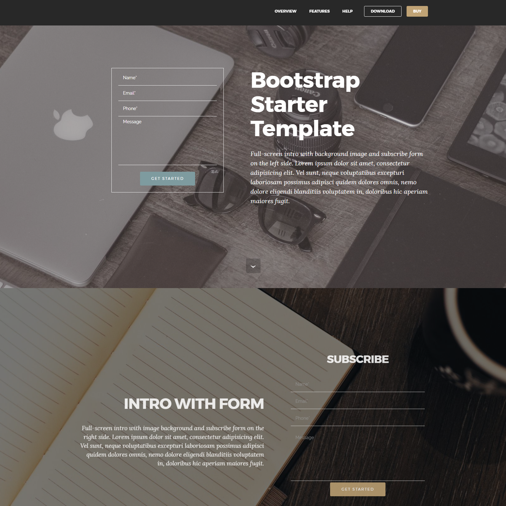 Free Download Bootstrap Starter Templates