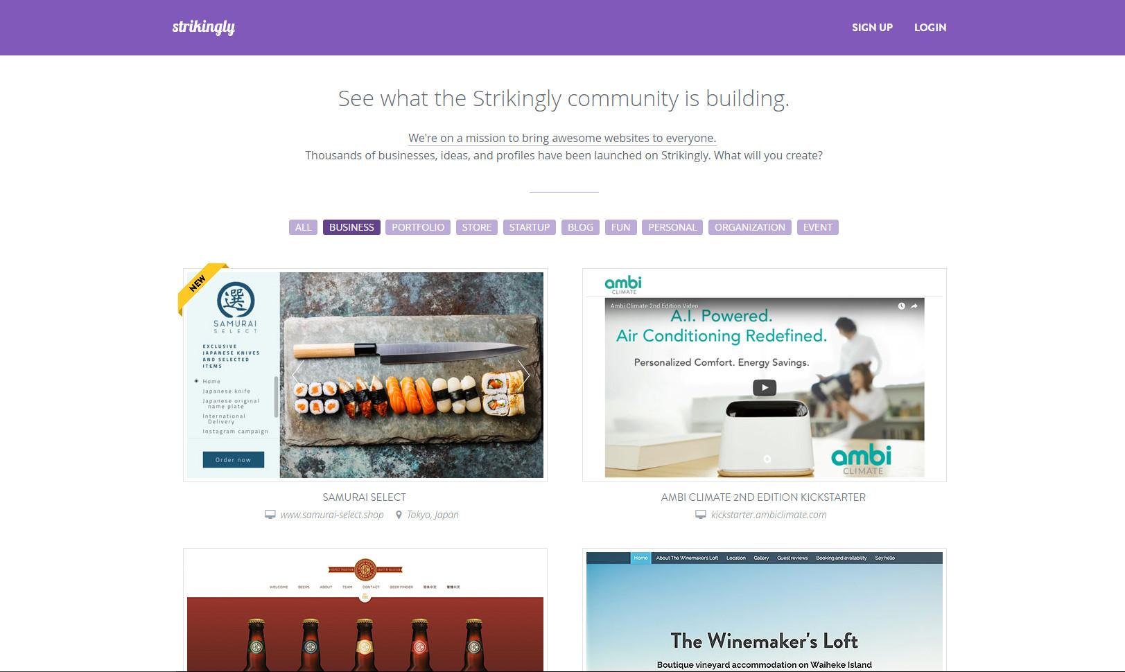 strikingly email hosting, strikingly coupon code, strikingly best website builders