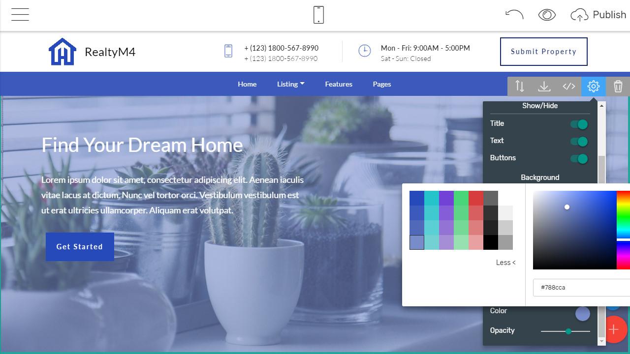 website designing software